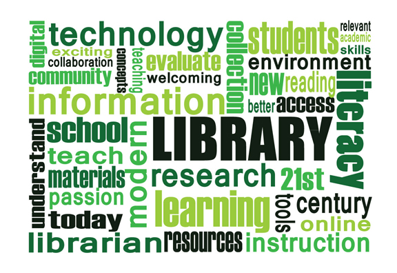 21st century library word cloud 21k12