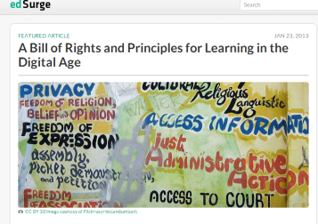 A Bill of Rights and Principles for Learning in the Digital Age   EdSurge News