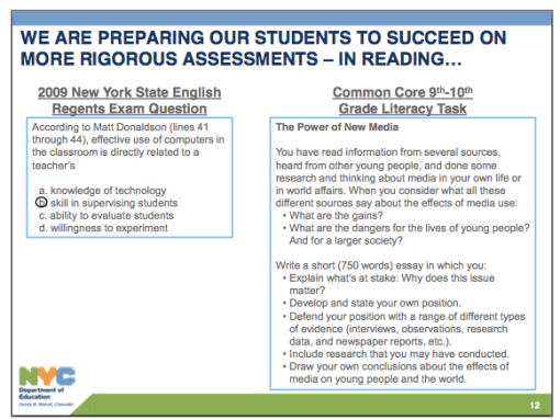 Common Core's impact grows clearer with sample test items   GothamSchools