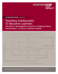 adolescents become learners